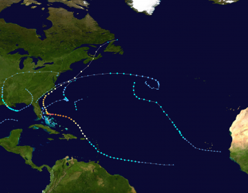2019 Atlantic hurricane season summary map as of Sept. 10. (Image: wikipedia.org)