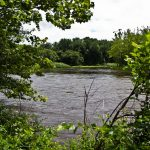 A view of the Delaware River.