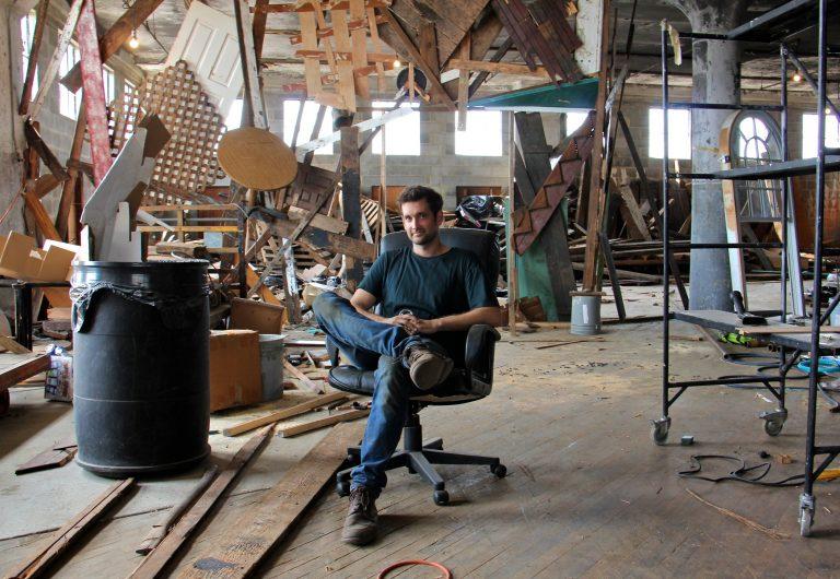 John Cambridge built the set for the fringe show