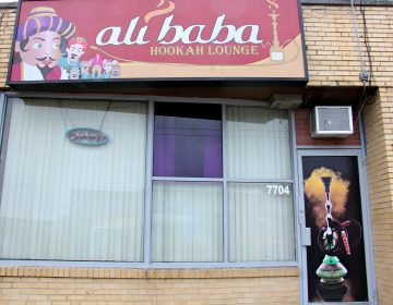 Ali Baba Hookah Lounge on Castor Avenue in Northeast Philadelphia. (Emma Lee/WHYY)