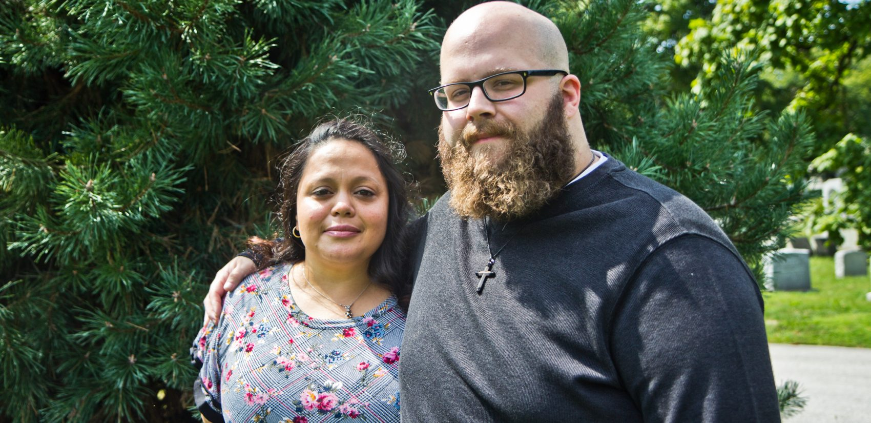Loida and John McKeever are trying to get the city to place a headstone at the bural site of aborted fetuses. (Kimberly Paynter/WHYY)