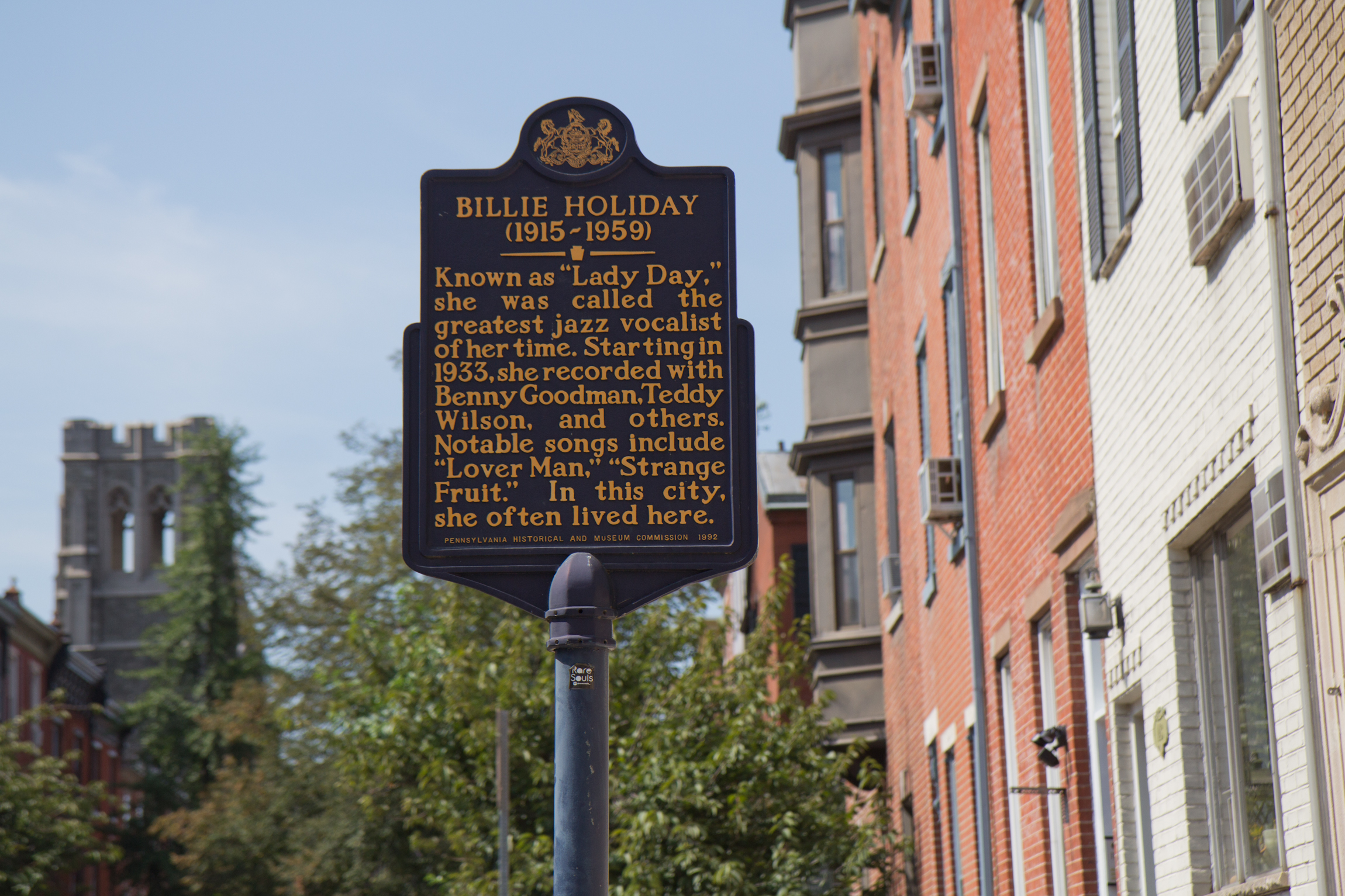 "The Douglass Hotel was where Billie Holiday ""often lived"" when in Philadelphia. (Kimberly Paynter/WHYY)"