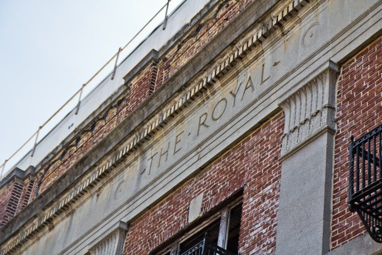"The Royal Theater opened in 1920 and was known as ""America's finest colored photoplay house."" (Kimberly Paynter/WHYY)"
