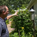 Peter Bosak, superintendent of the Cape May County Department of Mosquito Control, explains how mosquitos are trapped. (Kimberly Paynter/WHYY)