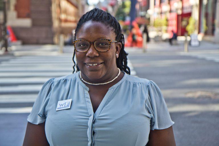 Philadelphia City Council candidate Kendra Brooks. (Kimberly Paynter/WHYY)