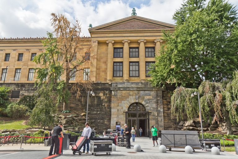 The north entrance of the Philadelphia Museum of Art reopened Wednesday. (Kimberly Paynter/WHYY)