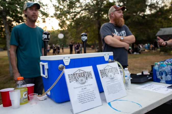 Pinelands Brewing Co. and Brotherton Brewing Co. served local beer at