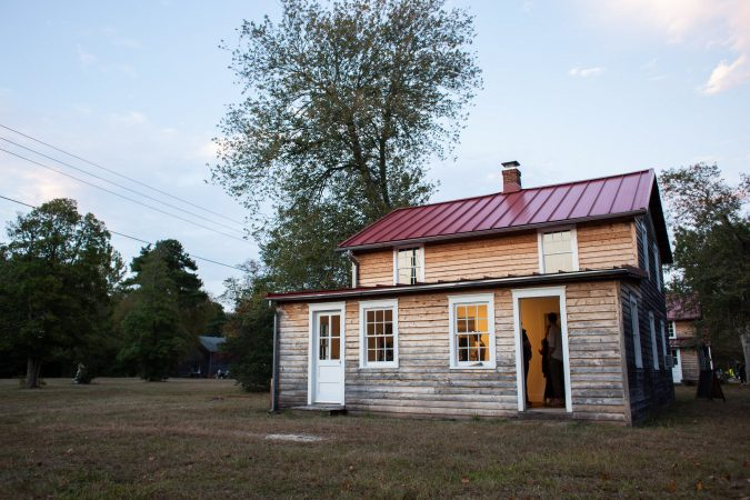 The historic buildings of Whitesbog Village became art galleries for the