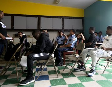 More than a dozen teens participate in a mental health summit organized by TEAM Inc. at The Kingdom Life Church Ministries, on Saturday. (Bastiaan Slabbers for WHYY)