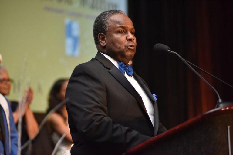 Cheyney University President Aaron Walton speaks at the 2019 Philadelphia UNCF Mayor's Masked Ball. The embattled university recently received $60,000 in grants from the UNCF. (Ronald Gray/The Philadelphia Tribune)