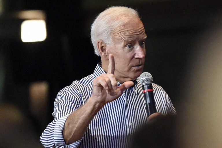 Former Vice President Joe Biden speaks, Wednesday, Aug. 28, 2019, at a town hall for his Democratic presidential campaign in Spartanburg, S.C. (Meg Kinnard/AP Photo)