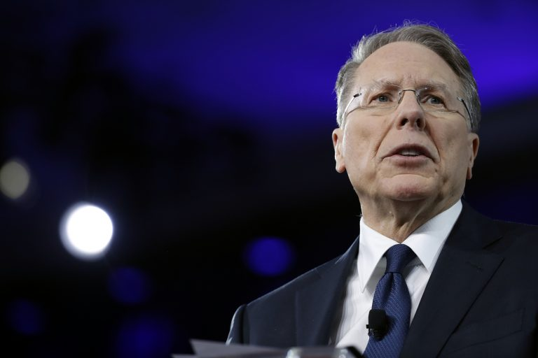 In this Feb. 24, 2017 file photo, National Rifle Association (NRA) Executive Vice President and Chief Executive Officer Wayne LaPierre speaks at the Conservative Political Action Conference (CPAC) in Oxon Hill, Md. Amid all the turmoil engulfing the National Rifle Association there's one big question: Will it still be a force to be reckoned with in the 2020 presidential campaign?  (Alex Brandon/AP Photo)