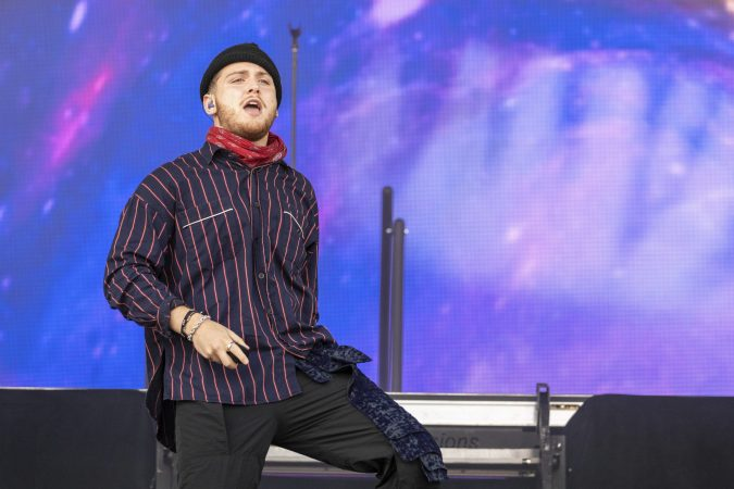 Bazzi during the Made In America Music Festival on August, 31 2019, in Philadelphia, Pennsylvania (Photo by Daniel DeSlover/Sipa USA)(Sipa via AP Images)