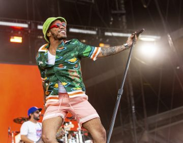 Brandon Paak Anderson of Anderson .Paak and The Free Nationals during the Made In America Music Festival on August, 31 2019, in Philadelphia. (Photo by Daniel DeSlover/Sipa USA)(Sipa via AP Images)