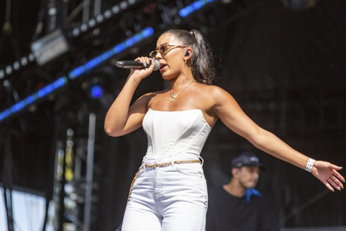 Grace Carter during the Made In America Music Festival on August, 31 2019, in Philadelphia. (Photo by Daniel DeSlover/Sipa USA)(Sipa via AP Images)