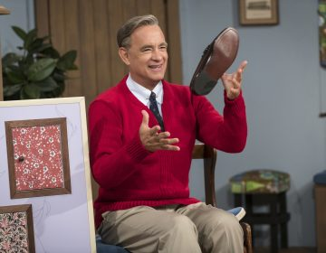This image released by Sony Pictures shows Tom Hanks as Mister Rogers in a scene from 'A Beautiful Day In the Neighborhood,' in theaters on Nov. 22. (Lacey Terrell/Sony-Tristar Pictures via AP)