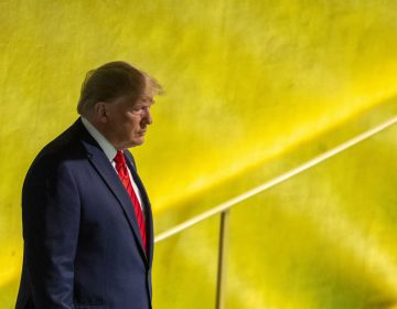 U.S. President Donald Trump arrives to address the 74th session of the United Nations General Assembly at U.N. headquarters Tuesday, Sept. 24, 2019. (Mary Altaffer/AP Photo)