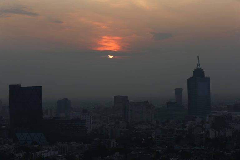 Smog blankets the sky in Mexico City. (Marco Ugarte/AP Photo)