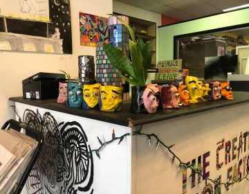 The Creative Vision Factory is a peer-run drop-in center that aims to use art and a welcoming atmosphere to help people struggling with mental illness, homelessness and addiction. (Cris Barrish/WHYY)
