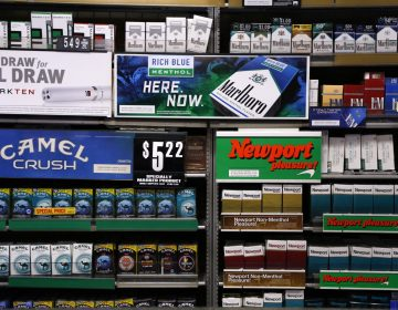 In this 2015 photo, several brands of cigarettes are on display at a Smoker Friendly shop in Pittsburgh. (Gene J. Puskar/AP Photo)
