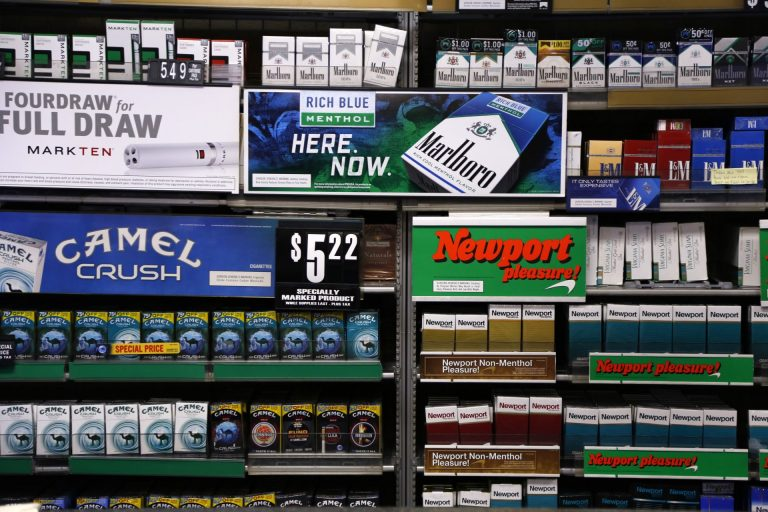 In this 2015 photo, several brands of cigarettes are on display. (Gene J. Puskar/AP Photo)