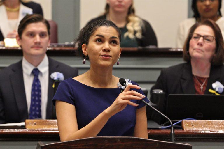 State Sen. Elizabeth Lockman of Wilmington. (Emma Lee/WHYY)