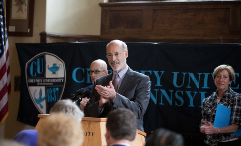 Gov. Tom Wolf's spokesman said this week that the governor believes Cheyney is