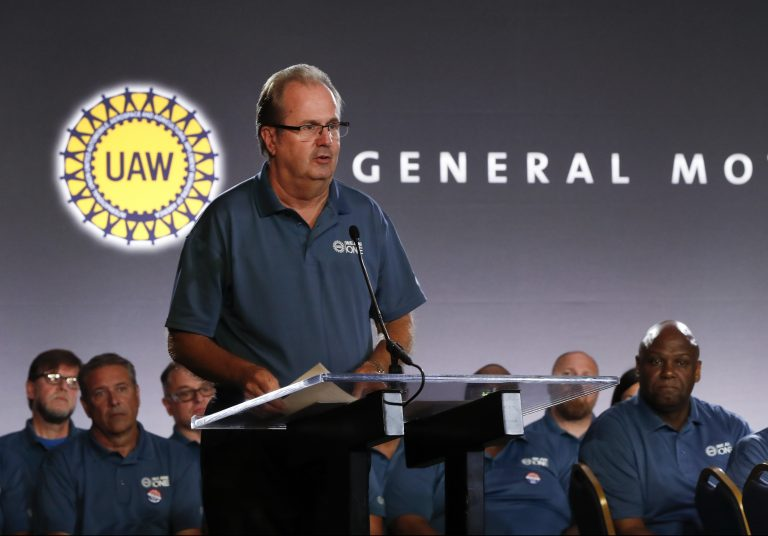 The United Auto Workers said on Sunday that a nationwide strike will begin before midnight. The move comes after the union and General Motors failed to agree on a new contract. (Paul Sancya/AP)