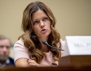 Ruby Johnson, whose daughter was recently hospitalized with a respiratory illness from vaping, testified before a House Oversight subcommittee hearing on lung disease and e-cigarettes on Capitol Hill Tuesday. (Andrew Harnik/AP)