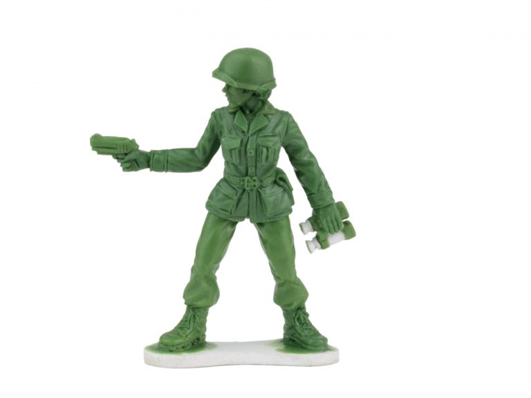One of the Plastic Army Women that toy company BMC Toys will be introducing next year after a six-year-old girl from Arkansas wrote a letter to the company wondering why there were no female soldiers. (Courtesy of BMC Toys)