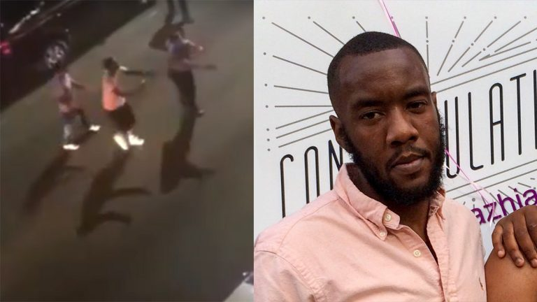 Darrin Lee, right, was shot by Philadelphia police in Kensington on the night of Sept. 2, 2019. (Youtube; Courtesy of Lee family)