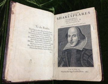 A copy of a nearly 400-year old manuscript of plays by William Shakespeare in the Rare Book Department of the Free Library was found to have notes scribbled in the margins by the 17th century poet who wrote 'Paradise Lost,' John Milton. (Courtesy of the Free Library)