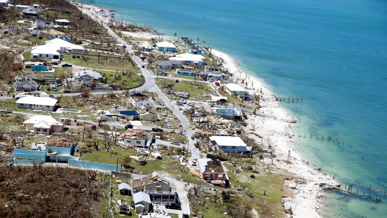 An aerial view shows damage after Hurricane Dorian on Great Abaco Island, Bahamas. (Jose Jimenez/Getty Images)