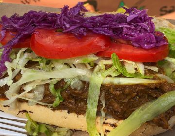 Rendang hoagie at Hardena's food truck (Danya Henninger/Billy Penn)