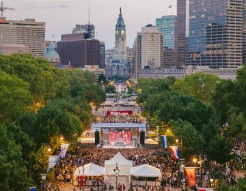 The Made in America festival takes over the Ben Franklin Parkway each Labor Day weekend PHOTO A. RICKETTS / VISIT PHILLY