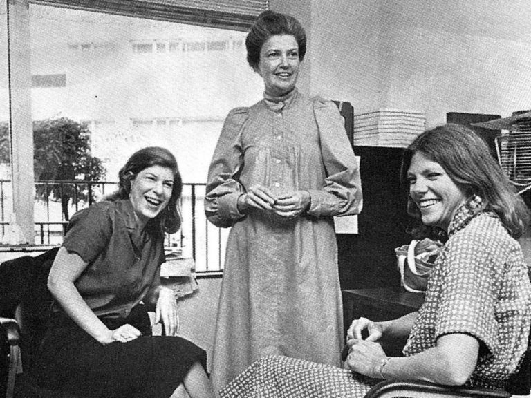 Nina Totenberg, Linda Wertheimer and Cokie Roberts, photographed around 1979, were among the prominent female voices on NPR in its early years. (NPR)
