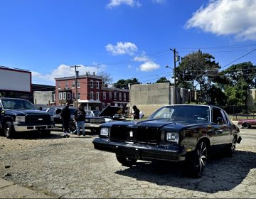 The local classic and American muscle car community gathers for a meet on a North Philadelphia, on Sunday. (Bastiaan Slabbers for Billy Penn)