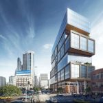 An artist's rendering shows an 18-story Parkway Corp. development proposed for 2230 Market Street. (Parkway Corp./Center City District)