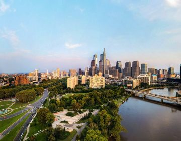Philly from above the Schuylkill, looking southeast MARK HENNINGER