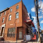 The Robert Purvis house is being repaired at 16th and Mount Vernon. MARK HENNINGER / IMAGIC DIGITAL