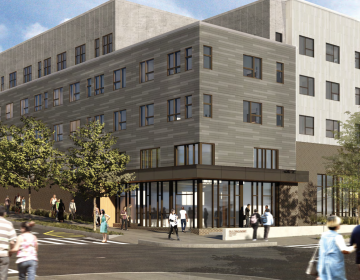 An artist's rendering of the new Norris Homes development as seen from 10th and Berks streets. (Jonathan Rose/ WRT)