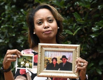 Donna Cryer holds up family photos that include her father Roland Henry. When her father died, she tried to donate his organs, yet the local organ collection agency said no, without talking to the family or providing a reason.