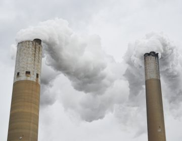 The Bruce Mansfield Power Plant burns coal to generate electricity in Beaver County. (Amy Sisk/StateImpact Pennsylvania)