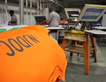 Prisoners make clothing for the New Jersey Department of Corrections. (Emma Lee/WHYY, file)