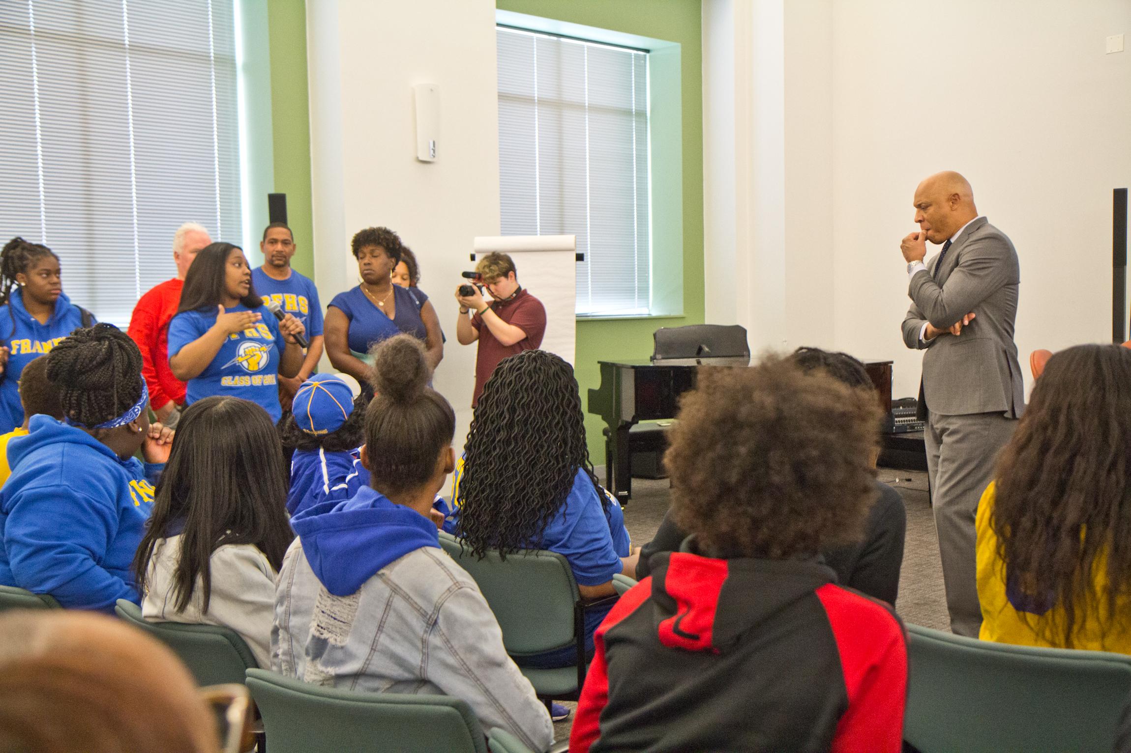 2019 10 07 k paynter school abestos meeting 6 - Ben Franklin, SLA to close for months amid asbestos concerns