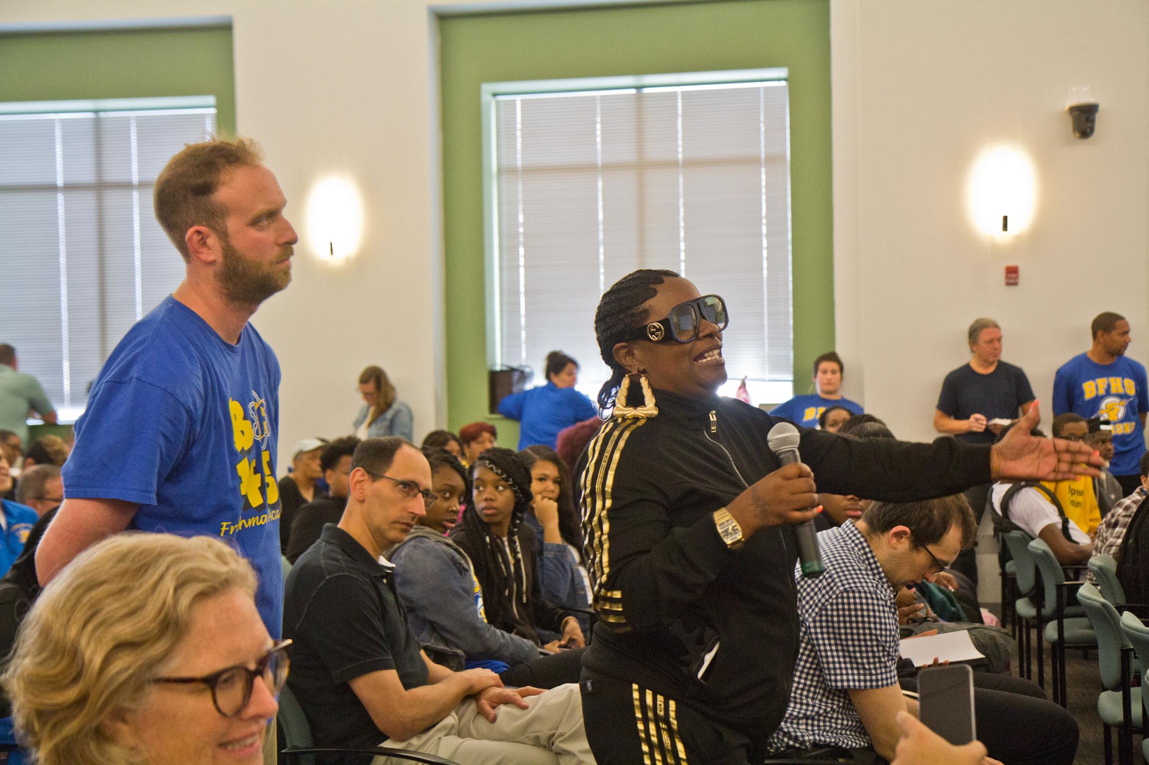2019 10 07 k paynter school abestos meeting 7 - Ben Franklin, SLA to close for months amid asbestos concerns