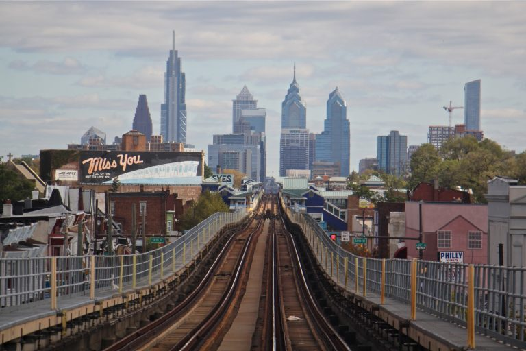 The Market-Frankford line runs from 69th and Market streets through Center City. (Emma Lee/WHYY)