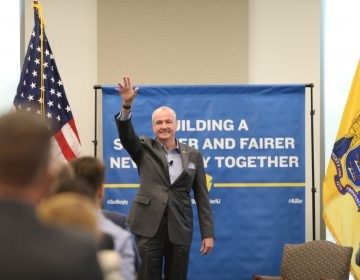 Governor Phil Murphy on the one-year anniversary of the release of his economic vision plan at Rowan University on October 1, 2019. (Edwin J. Torres/Governor's Office)