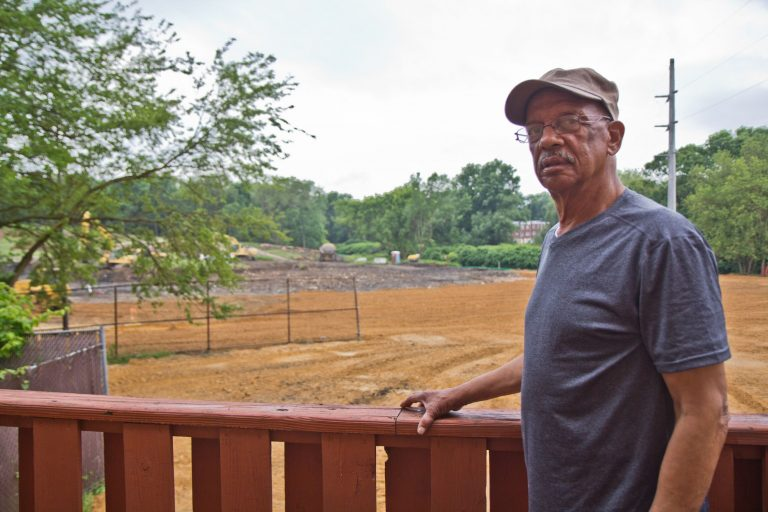 "Leo Brundage, an ""old Eastwick"" native, returned to the neighborhood in the 1980s. (Kimberly Paynter/ WHYY)"