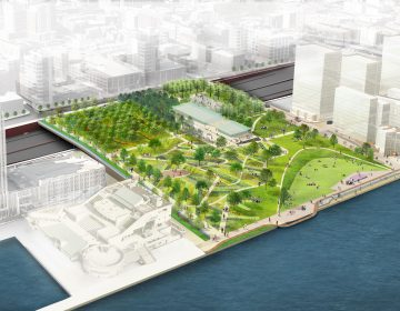 A rendering of the proposed Park at Penn's Landing (Courtesy of DRWC)